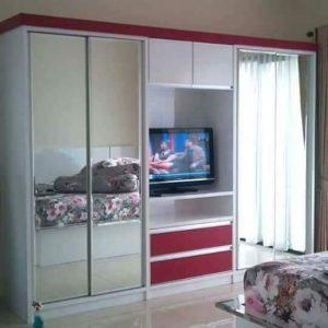 lemari set kamar tidur - Lemari Pakaian Set Minimalis