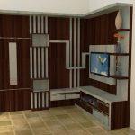 lemari tv minimalis hpl - Lemari TV Minimalis Modern