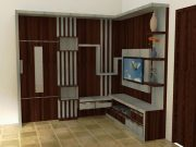 lemari tv minimalis hpl